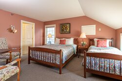 Shoreham Room- Second floor of our carriage house. Each room offers its own bathroom.