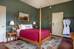 New Haven Room- Second floor of our 1803 main house. Each room offers its own bathroom.