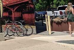 Bicycle parking at The Eastside Tavern.