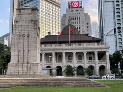 The cenotaph, or 'empty tomb' was unveiled in 1923 to commemorate those who fought in Hong Kong during WWI. At the time no-one imagined another world war but within 20 years, the world was at war again, with thousands dying on battlefields and in muddy trenches.