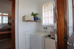 Laundry facilities with washing machine and tub