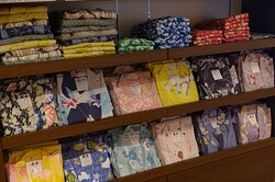 We have a wonderful variety of colorful yukata for you to try on during your stay here.