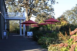 Ample patio space, covered and heated tables available.