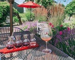 Wine tasting at GOWC.