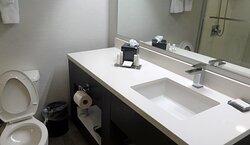 Sink vanity area