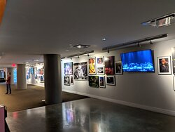Photo gallery at the Moody Theater.