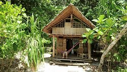 Paradise/ family bungalow with ensuite bathroom & secluded terras/beach