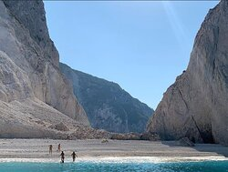 Mizithres Beach in the absolute morning privacy