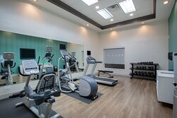 Fitness Center with Free Weights and Multi Purpose Bench