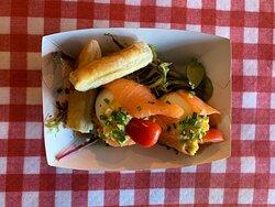 Oeufs mimosa au saumon