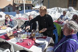Ski over to Italy for lunch!