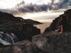 Водопад из Малого Батарейского озера