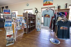 Pick up your souvenir to remember your wander outback.  TShirts, Stubby Holders, Bumper Stickers, Books and More.   Pick up a HEMA Map or Guide Book to keep planning your adventure.
