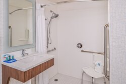 King Accessible Roll in Shower Bathroom Overview