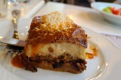 The best moussaka ever!  Light and dellish!