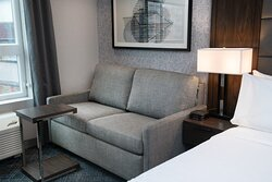 A sofa pullout bed in our king room.