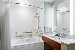 Holiday Inn Express ADA Jacuzzi Tub Bathroom