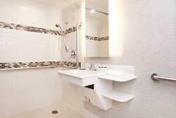 Mobility Accessible Guest Bathroom - Roll-In Shower