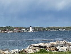A view of one of the lighthouses (this one's haunted!).