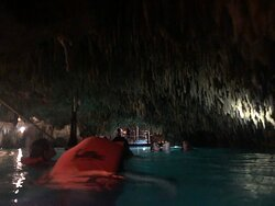 The underground cenote was amazing. It was in a cave so it was cool to go through the tunnels and learn more about cenotes. The water also felt really good after doing the tour of the ruins.