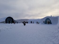 The original Ice Hotel and the 365 building.