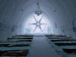 Chapel in the original Ice Hotel.