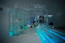 The Ice Bar at the Ice Hotel in Jukkasjärvi, Sweden.