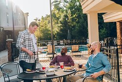 Dinner with friends or make new friends at the Gazebo Grill