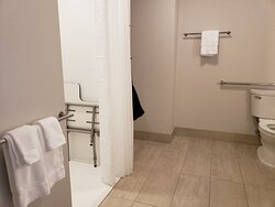 Wheelchair accessible roll in shower