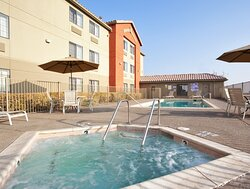 Relax and unwind after work in our outdoor jacuzzi.
