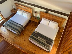 Room #6: A spacious guestroom with ample room for friends + family traveling together.