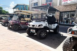 Island Cruiser golf cart rentals. Drive in luxury...