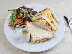 Ham, Cheese and Chutney at The Woodworks Garden Centre and Café in Mold, North Wales.