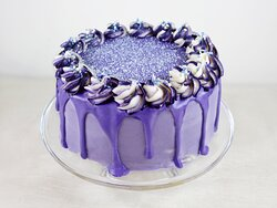 Blueberry Layer Cake at The Woodworks Garden Centre and Café in Mold, North Wales.