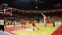 Basketball Match in the Dalian Sports Center