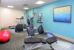 Sports teams love our hotel's fitness center.