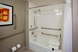 Suite with mobility accessible tub
