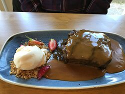 Belly busting sticky toffee pudding