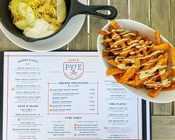 menu with sweet potatoes and spaghetti squash
