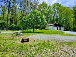 Bush campground at Loyalhanna lake
