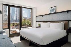 Midtown King City Terrace Guestroom