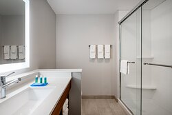 All our suites include a roomy walkin shower.