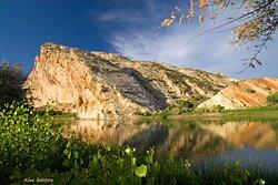 Enjoy scenic beauty at Split Mountain.