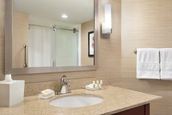 Enjoy getting ready for the day in our fully equipped bathrooms.