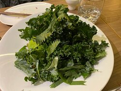 Avocado, Kale, and Preserved Egg salad