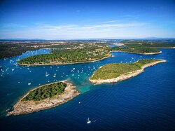 Frašker and Fraškerić Islands on the Pula Bike & Boat tour
