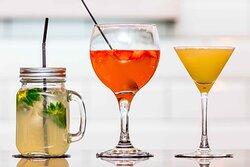 Cocktails served on the Bistro bar