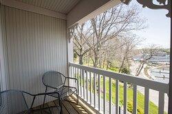Brett private waterfront balcony