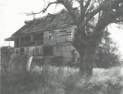 Photo of the building from the 1900s, after it was partly destroyed in a cyclone. The building was left in a state of disrepair for many years before being restored and converted into a museum.