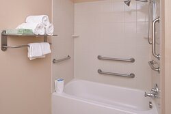 ADA KNGN Guest Bathroom with hand rails